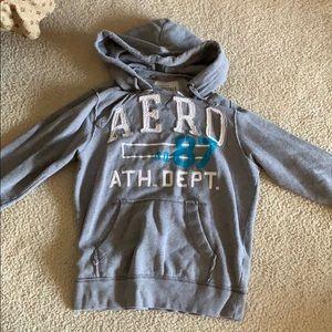 A gray Aeropostale hoodie